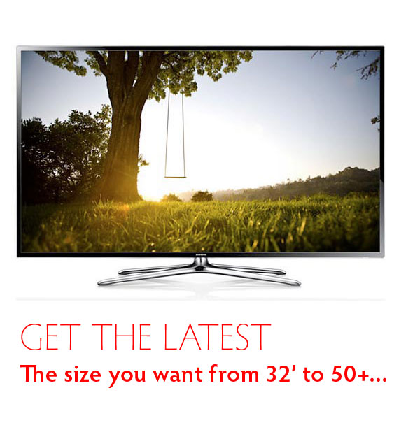 Rent the latest Televisions