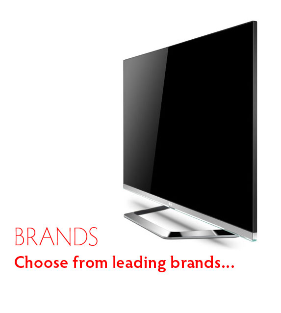 Choose a leading brand Television to rent